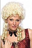 Schaufensterpuppendiscount Perücken Damen Mittel Blond Polyester Zöpfe Lockig Karneval 80er Jahre Party Barock Mittelalter