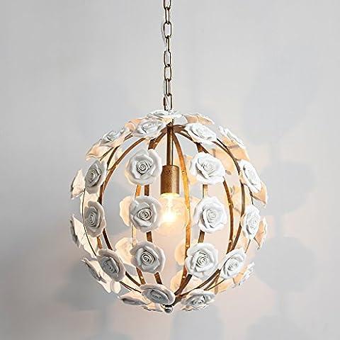 lumière Rose Lustre Retro Iron Bedroom Lampe de chevet Simple Restaurant Décoration Lights Clothing Store Creative Lights Plafonnier ( Couleur : A )