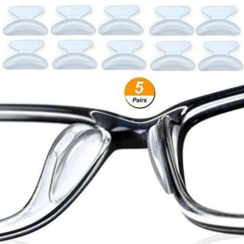 5 Paar Silikon Nasenpads Für Brillen, 2,5mm Anti-rutsch-weiche Gläser Kissen Aufkleber Für Sonnenbrille Brille (Transparent)