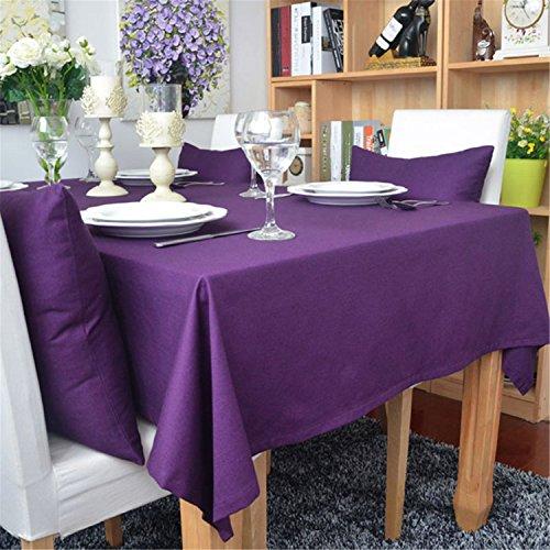 Hippolo 1-teilig Baumwolle einfarbig Tischdecke Rechteck Tischdecke für Esstisch dicken Tisch...