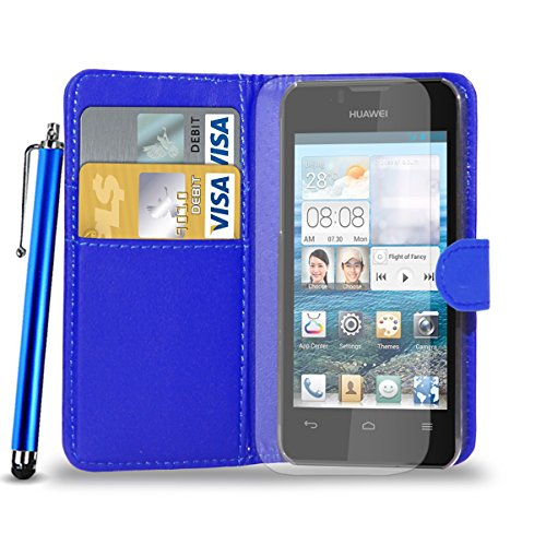 huawei-ascend-y300-leather-wallet-flip-case-cover-pouch-touch-stylus-pen-screen-guard-cleaning-cloth