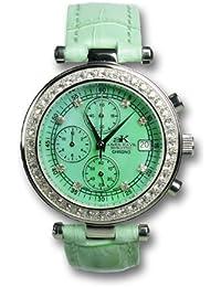 Adee Kaye Venus - Reloj de pulsera para mujer, color verde