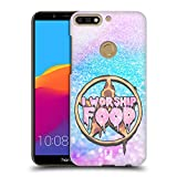 Head Case Designs Ich Liebe Das Essen Pastellgote Ruckseite Hülle für Huawei Honor 7C / Enjoy 8
