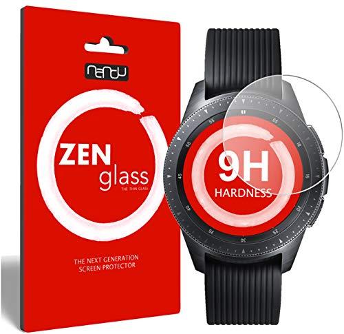 ZenGlass [2 Stück Flexible Glas-Folie für Uhr 32 mm Durchmesser Panzerfolie I Display-Schutzfolie 9H