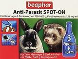 Anti-Parasit Spot On für Nager | Gegen Milben, Flöhe & Läuse | Schutz vor Parasiten | Für Kleintiere mit 700-1600 g Körpergewicht | 3x0,77 ml Pipetten