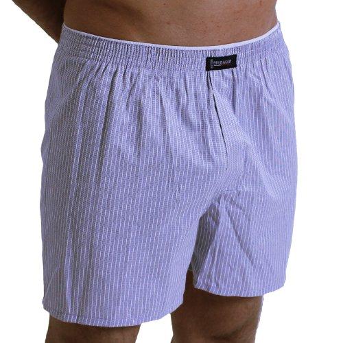 3 Pack BRUBAKER pantaloncini tessuti Boxer Bügel facilmente a righe multicolore taglia M - XXXL Sortiment 1