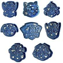 Cuticuter Paw Patrol Pack Cortador de Galletas, Azul, 16x14x1.5 cm, 8