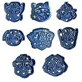 cuticuter Paw Patrol Pack di biscotti, blu, 16x 14x 1.5cm, 8pezzi