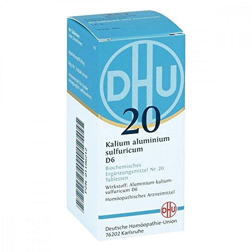 DHU Schüßler-Salz Nr. 20 Kalium aluminium sulfuricum D6, 80 St. Tabletten -