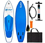 Explorer Sup Sunshine 305 x 81 x 12 cm Inflatable Isup aufblasbar Alu-Paddel Stand up Paddle Board Set Pumpe Surfboard Aqua Paddelset