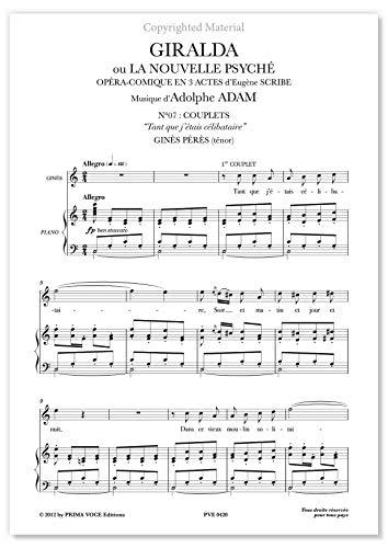 "Adam, Adolphe • GIRALDA • ""Tant que j'étais célibataire"" (ténor)"