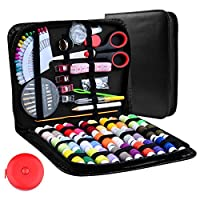 Sewing Kit, Over101Pcs or 220Pcs Sewing Supplies Mini Sewing Kit Sewing Accessories for Beginners Mother DIY Emergency Campers Traveler Black Great Gift
