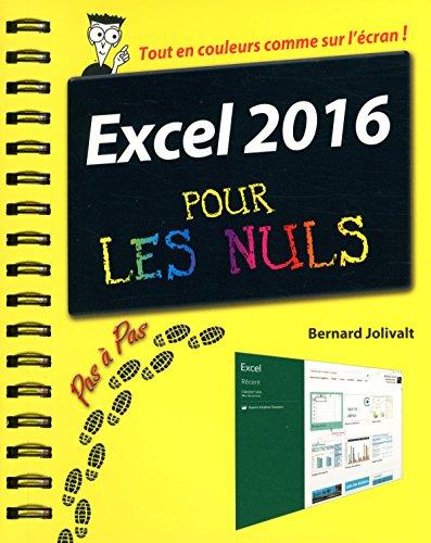 Excel 2016 Pour Les Nuls par Bernard Jolivalt