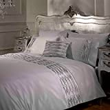 Stylish and contemporary bedding featuring stunning diamantes, with pintuck detailing this bedding set is modern & luxurious!;Sold as 1 x duvet cover with pillowcase(s);Material: Face: polyester Reverse: 50% cotton, 50% polyester;Machine ...
