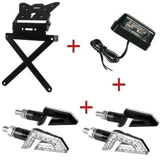 Kennzeichenhalter für Motorrad universal Kit zugelassen + 4Blinker + Kennzeichenbeleuchtung Lampa Gilera SMT 502004–04