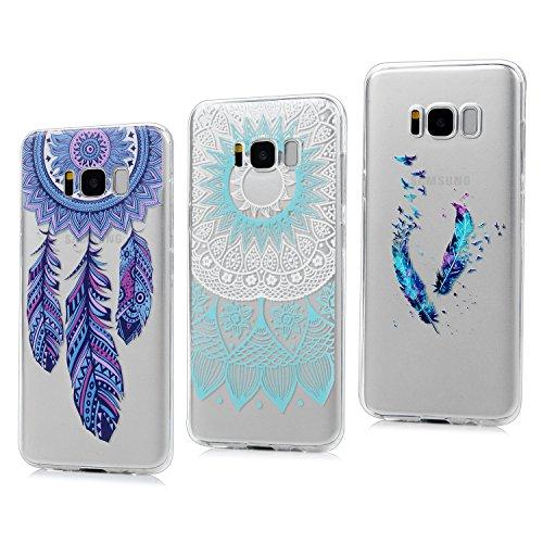 3x Funda para Samsung Galaxy S8 Plus, Carcasa Silicona Gel Case Ultra Delgado TPU Goma Flexible Cover para Samsung Galaxy S8 Plus - Totem + Pluma De Color + Captura