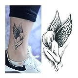 Born Pretty 1 Planche Tatouage Temporaire Ephémère ArtWear Tattoo temporaire Imperméable Motif Ailes d'Ange Sticker Art Corporel