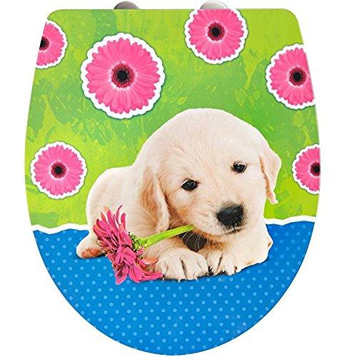 ADOB, Design WC Sitz Klobrille Puppy, Absenkautomatik, abnehmbar zur Reinigung, 60879