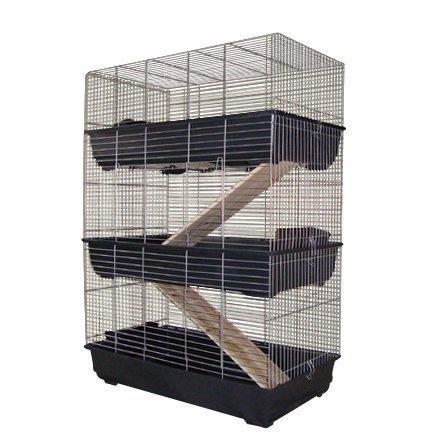 3 stöckiger Käfig Kaninchenkäfig Nagerkäfig