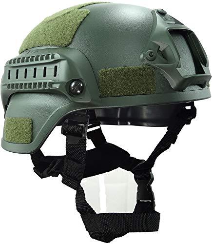 haoyk mich 2000Style Tactical Airsoft Paintball Helm mit NVG Halterung und Seite Schiene für Airsoft Paintball, OD