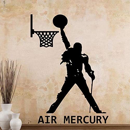 Nuevo diseño Air Mercury Freddie Mercury Queen Band Le pegaremos vinilo etiqueta de la pared para Bar Club decoración decoración de la habitación calcomanías púrpura XL 58 cm x 89 cm