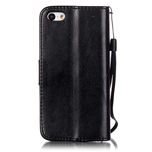 Mk Shop Limited Coque pour iPhone 5C,PU Cuir Flip Magnétique Portefeuille Etui Housse de Protection Coque Étui Case Cover avec Stand Support pour Apple iPhone 5C Multi-couleur 6