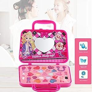 Festnight Juego de Maquillaje de Juguetes de Disfraces Juego de cosméticos para niñas Juegos de cosméticos Juguetes de Seguridad para niños