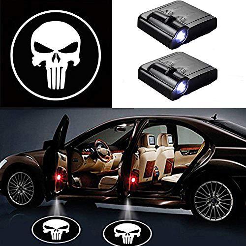 Luci laterali Auto e Moto Pixelprice 2x MINI JCW CREE LED proiettore auto porta luci ombra Puddle cortesia laser logo
