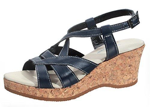 Marion Spath  342-810-blau-32, chaussures compensées femme Bleu