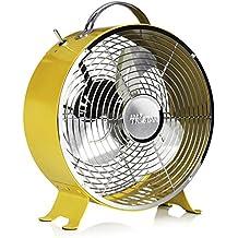 Ventilador de mesa retro Tristar VE-5964 – 25 centímetros – Amarillo
