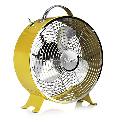 Tristar VE-5964 - Ventilador retro de metal, color amarillo