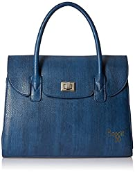 Baggit Zinc Beads Women's Handbag(Blue)