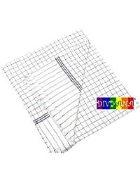 DIVYANA™ Premium Quality Pure Cotton White Checkered Summer Blanket (Long Lasting, Durable) (60x100 inch) (Blue) Top Sheet Chaddar