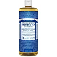 Del Dr. Bronner Magia Jabones Pure-jabón de castilla, 18-in-1 Hemp menta, botella de 32 onzas