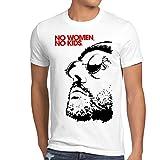 style3 No Women, No Kids Herren T-Shirt leon der profi portman nathalie reno jean, Größe:L, Farbe:Weiß