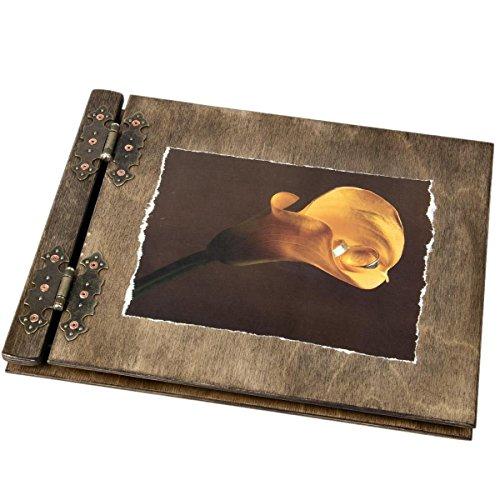 Álbum fotos Aldecor 25 páginas negro Flor Lirio