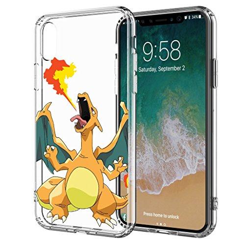 Starcase GO Pokemon Comic Schutz Hülle Transparent TPU Cartoon Glurak M8 kompatibel für Samsung Galaxy J5 2017