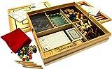 Deluxe Large 15Famille Jeux Compendium Jeux de dés, jeux de société, jeux de cartes et bien plus encore