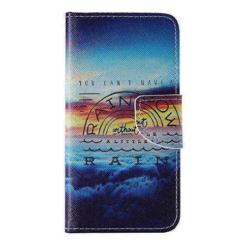 Nancen Apple iphone 5 / 5S (4,0 Zoll) Handy Lederhülle, Flip Case Wallet Cover with Stand Function, Folio Bookstyle Handytasche Soft Silikon Bunte Muster Tasche PU Leder Slim Shell Handyhülle.