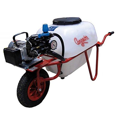 Motores Campeón CPE-1001 Carretilla Fumigadora de 100 Litros con Bomba de Membrana COMET y Motor Eléctrico