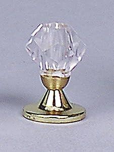 Kahlert 10.448 luz - Muñeca Mini Accesorios - pie de Mesa lámpara de Bronce, Cristal de la Pantalla