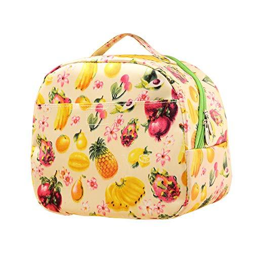 Kfz Set Kostüm - KonJin Isolierte Lunch Bag Cool Bag für Lunch Boxes Gestreiftes Wasserdichtes Gewebe Faltbare Picknick-Handtasche für Frauen, Erwachsene, Studenten und Kinder 20x13x23cm