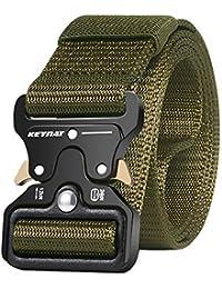 KEYNAT Cintura Tattica Nylon con Fibbia Cobra Uomo Cintura di Sicurezza Cintura Militare Cintura Resistente di Salvataggio per Sport Men Belt