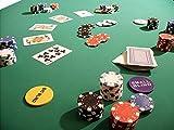 Pokertuch Casino Spieltuch Poker Stoff Pokertisch Auflage Tischtuch Tischdecke (grün, 160x160 cm)