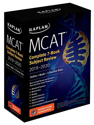 MCAT Complete 7-Book Subject Review 2019-2020: Online + Book + 3 Practice Tests par Kaplan Test Prep