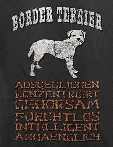 Hund Border Terrier Herren T-Shirt Grau