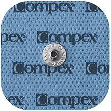 Compex - Electrodos Autoadhesivos Para Aparato Electroestimulador (x4) - 5cm x 5cm - Parches Tipo Easy Snap - Almohadillas Para Electroestimulación - Incluye Conectores