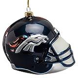 Denver Broncos–Glas Helm Ornament