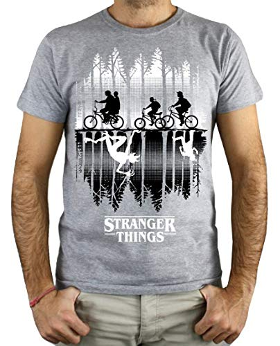 PLANETACAMISETA Camiseta Hombre - Unisex Stranger Things, Upside