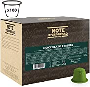 Note d'Espresso Chocolate and Mint Capsules 7g x 100 Capsules Exclusively Compatible with Nespresso* machines